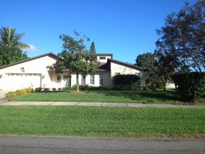 Front lawn mowed in the Moorings Area. Naples, FL